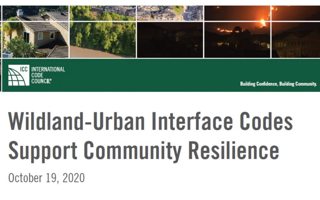 Code Council Issues White Paper on Resilience and Wildland Fire